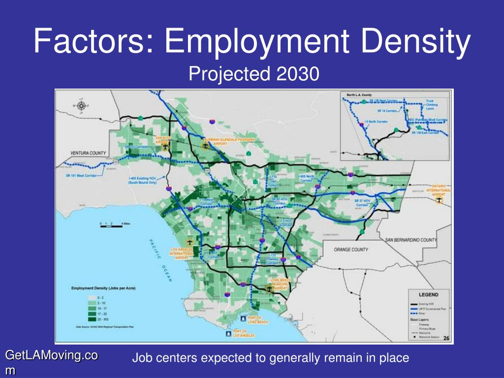 Job centers expected to generally remain in place