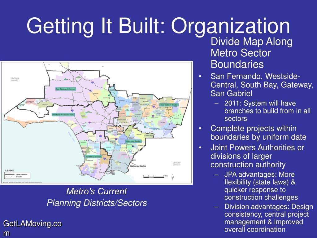 Divide Map Along Metro Sector Boundaries