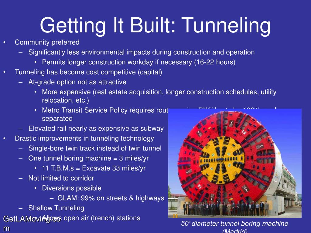 Getting It Built: Tunneling