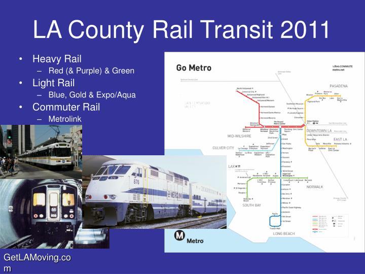 La county rail transit 2011
