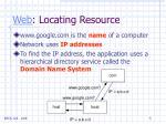 web locating resource