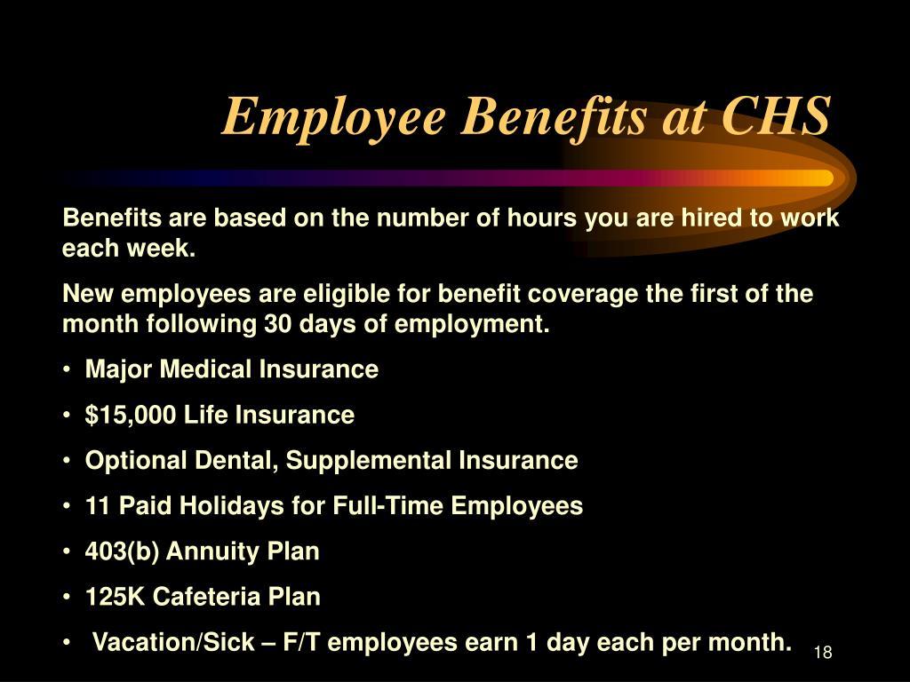 Employee Benefits at CHS