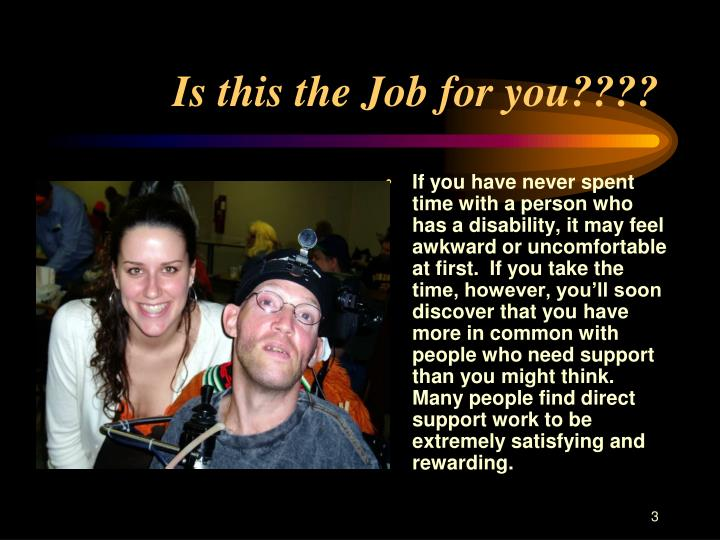 Is this the job for you