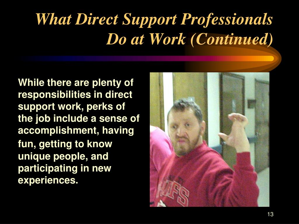 What Direct Support Professionals Do at Work (Continued)