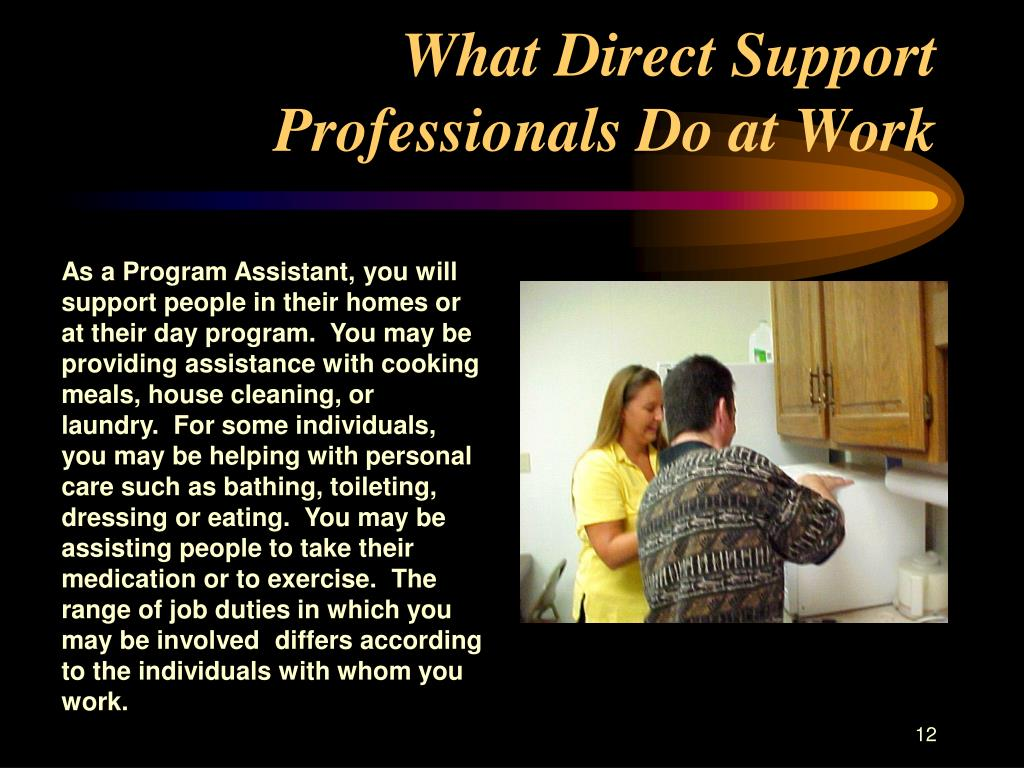 What Direct Support Professionals Do at Work