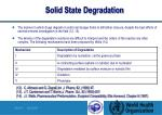 solid state degradation