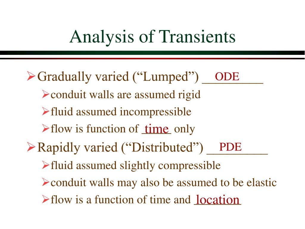 Analysis of Transients