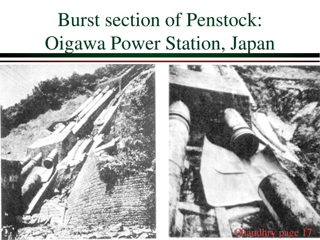 Burst section of Penstock: