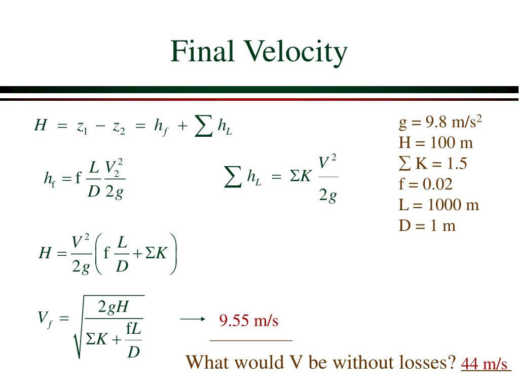 Final Velocity