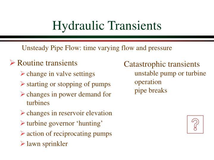 Hydraulic transients3