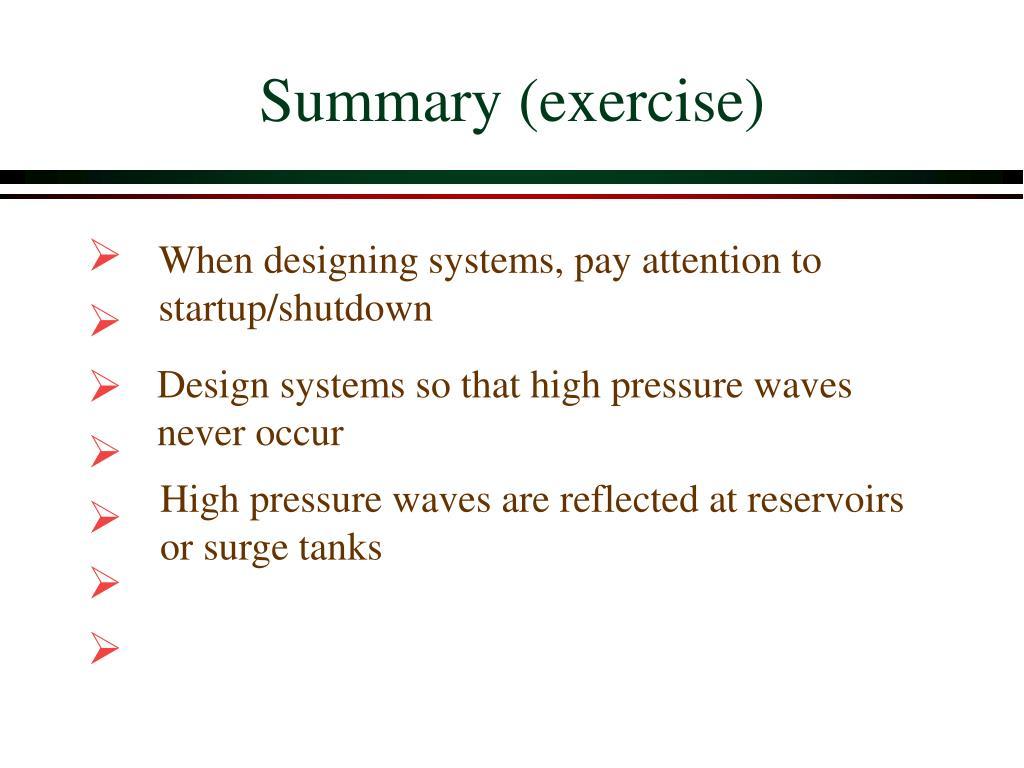 Summary (exercise)