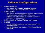 failover configurations