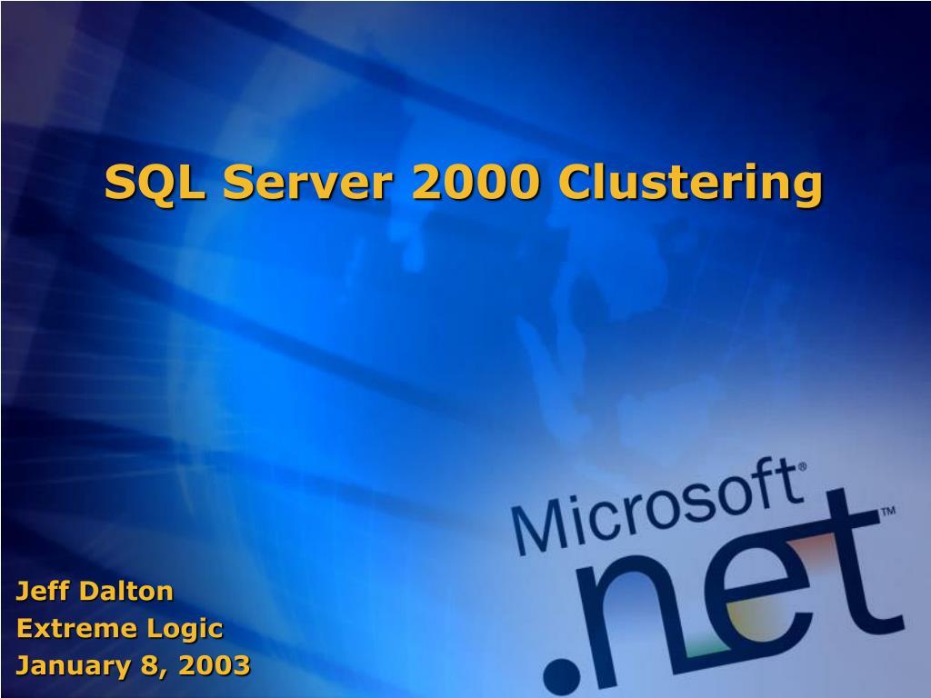 sql server 2000 clustering l.