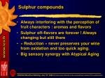 sulphur compounds