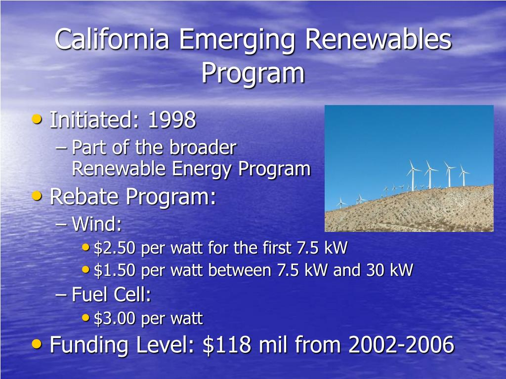 California Emerging Renewables Program