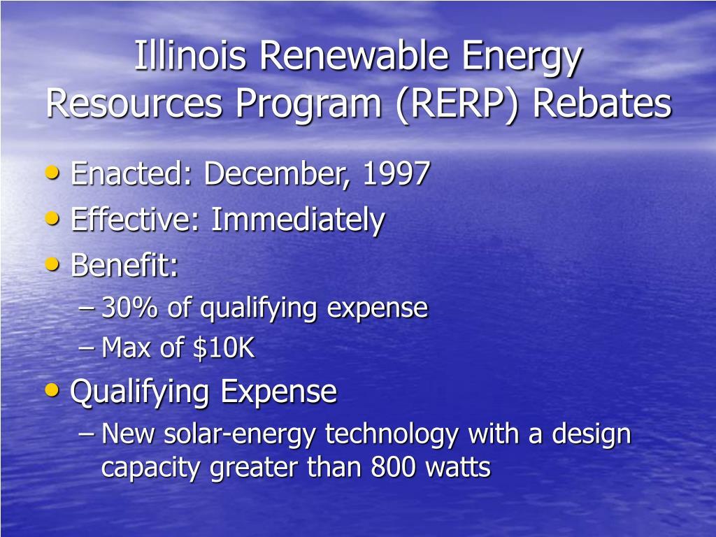 Illinois Renewable Energy Resources Program (RERP) Rebates