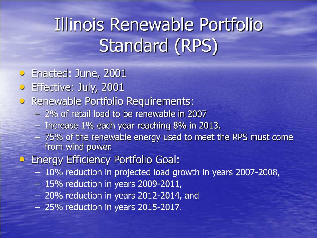 Illinois Renewable Portfolio Standard (RPS)
