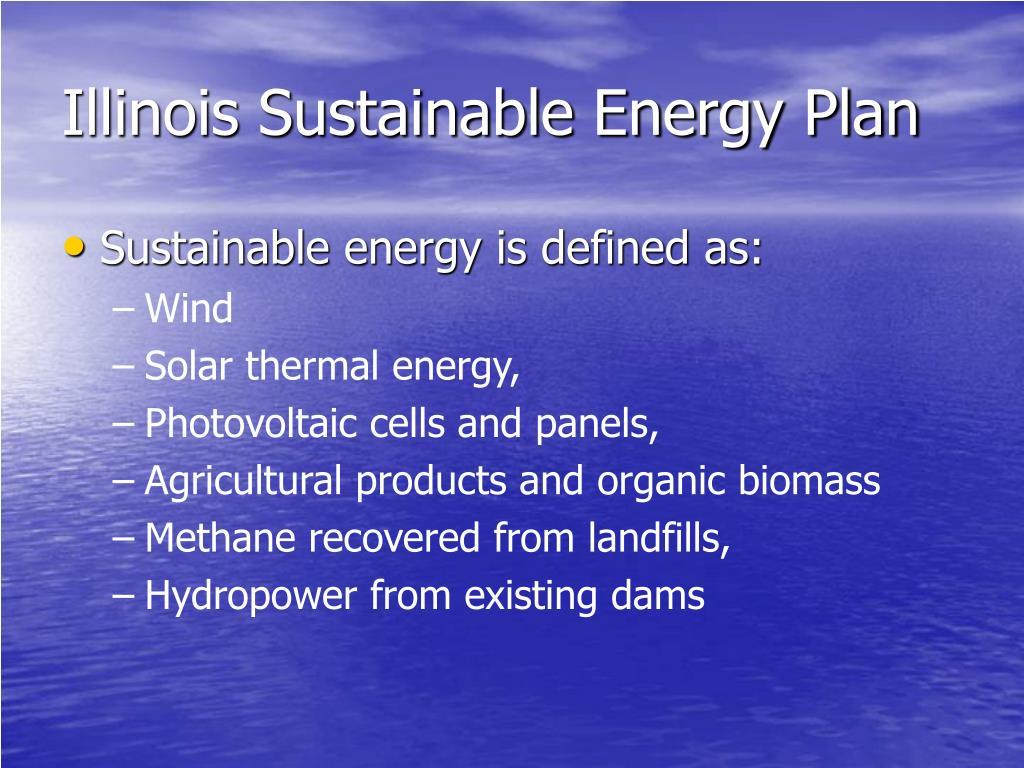 Illinois Sustainable Energy Plan
