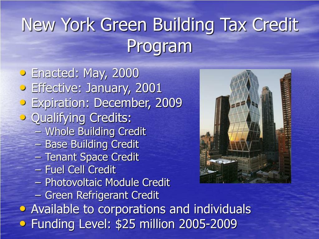 New York Green Building Tax Credit Program