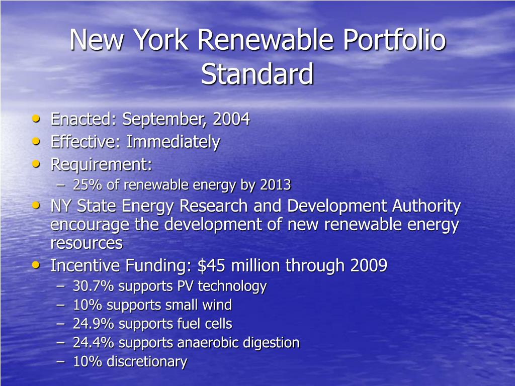 New York Renewable Portfolio Standard