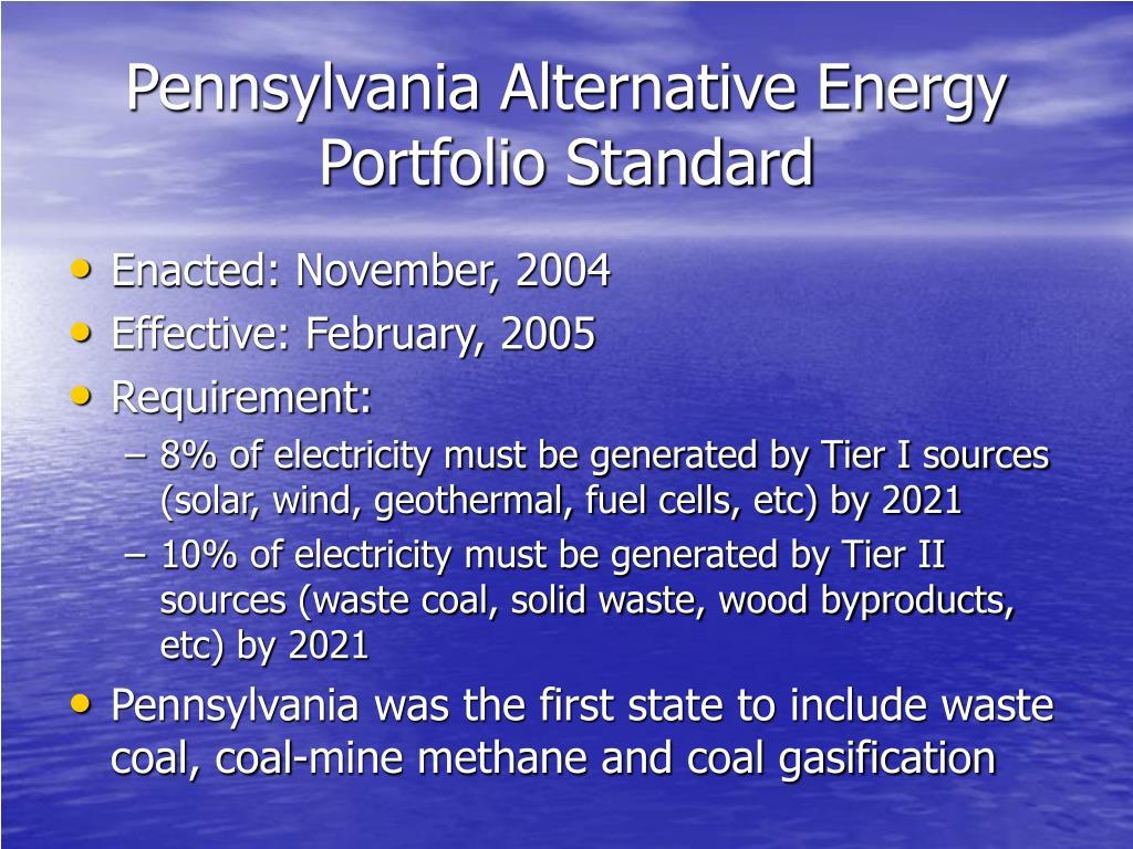 Pennsylvania Alternative Energy Portfolio Standard