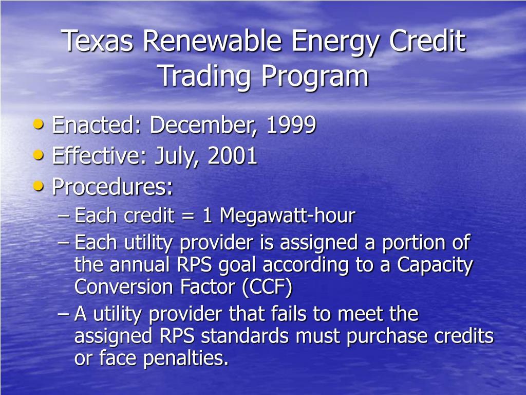 Texas Renewable Energy Credit Trading Program