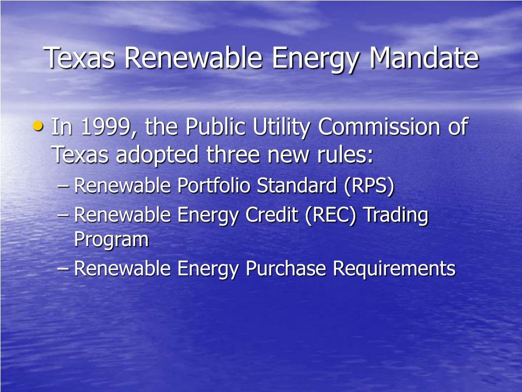 Texas Renewable Energy Mandate