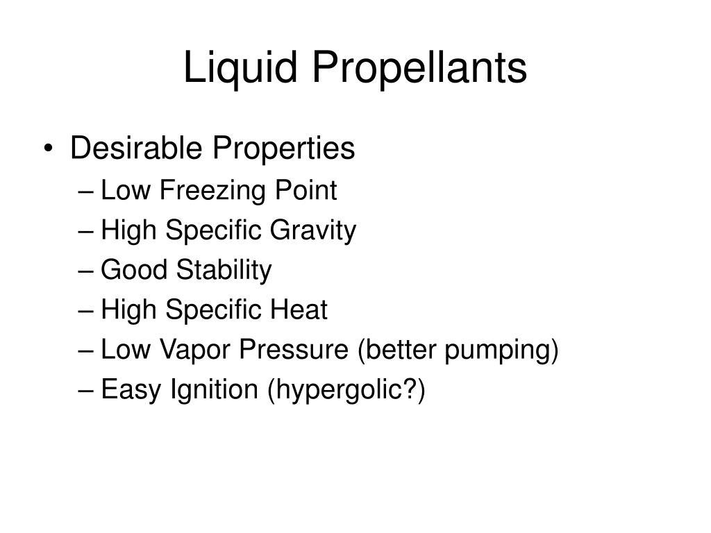 Liquid Propellants
