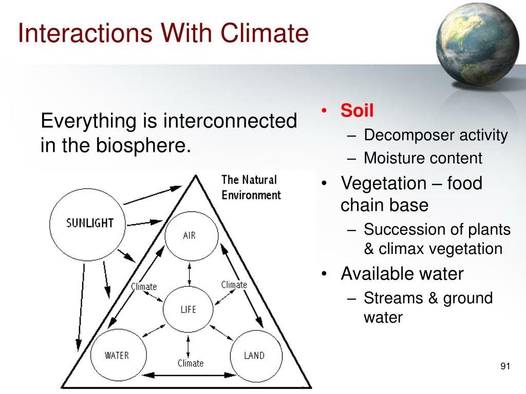 Interactions With Climate