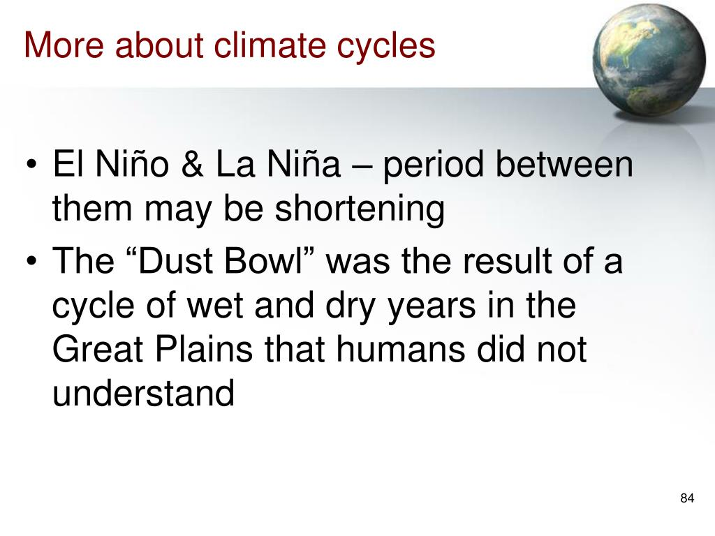 More about climate cycles