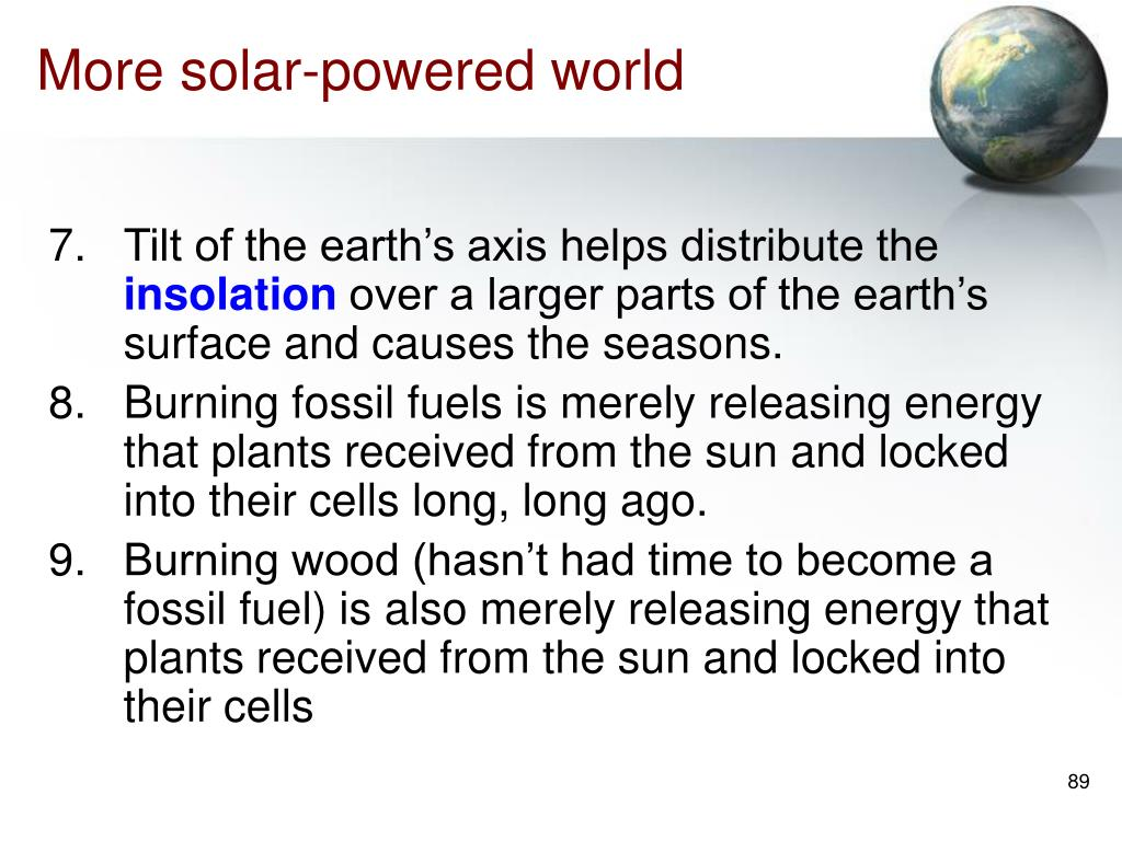 More solar-powered world