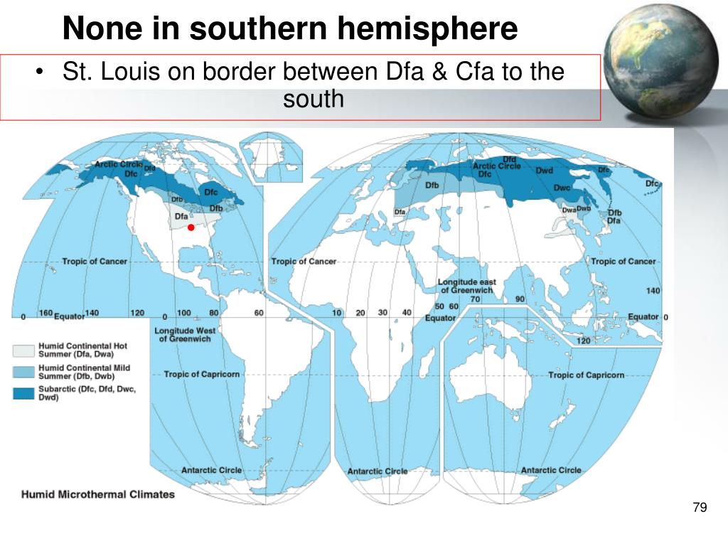 None in southern hemisphere