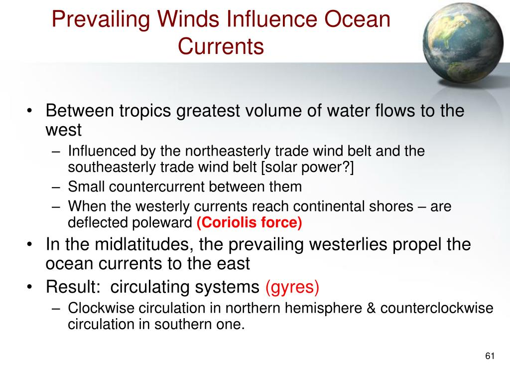 Prevailing Winds Influence Ocean Currents