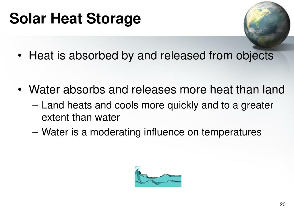 Heat is absorbed by and released from objects