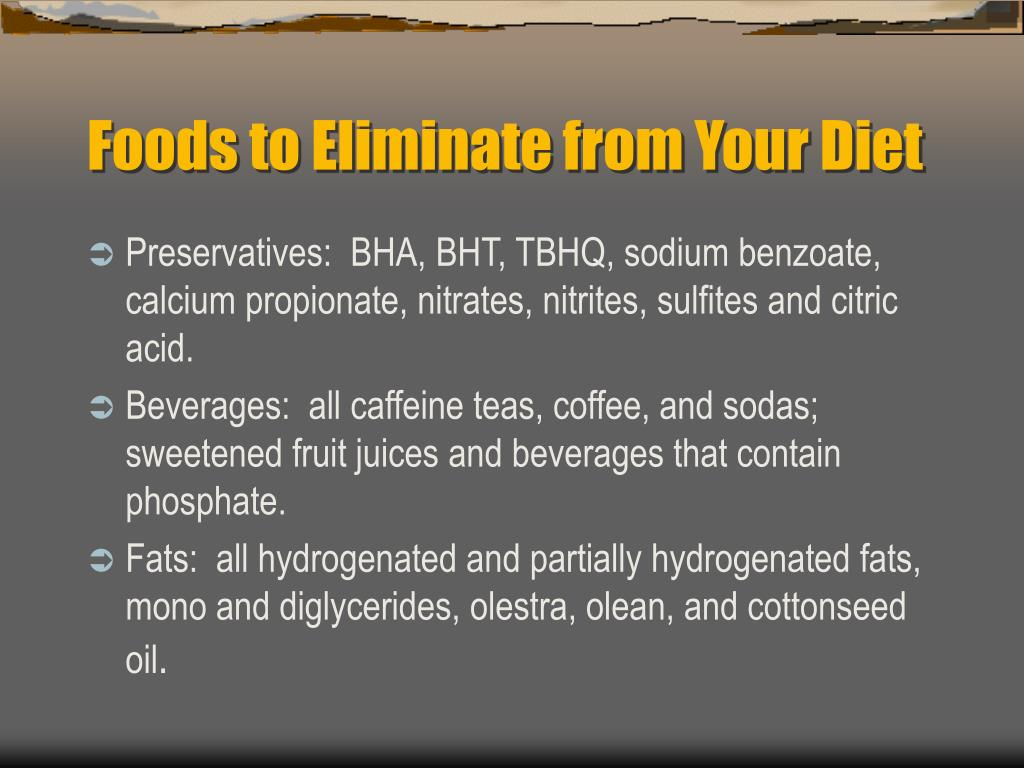 Foods to Eliminate from Your Diet