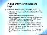 7 end entity certificates and keys24