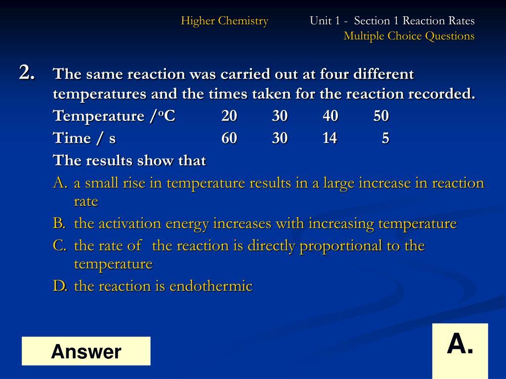PPT - Higher Chemistry PowerPoint Presentation - ID:379129