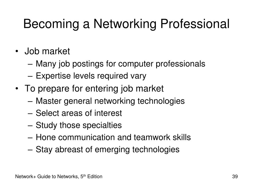Becoming a Networking Professional