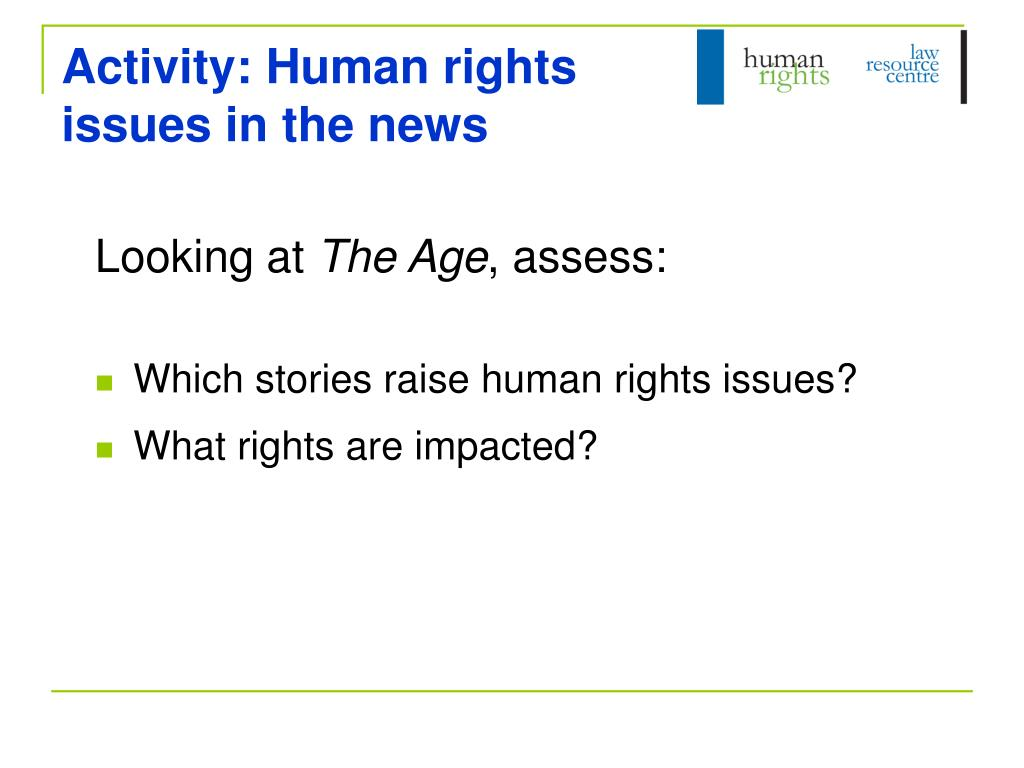 Activity: Human rights issues in the news