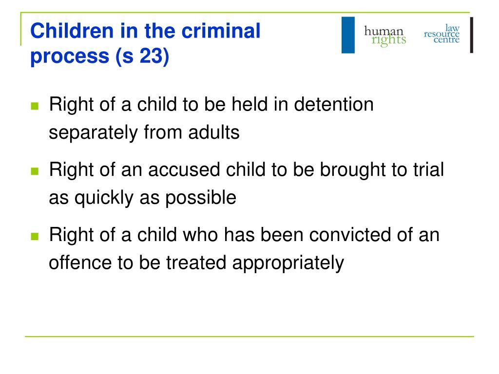 Children in the criminal