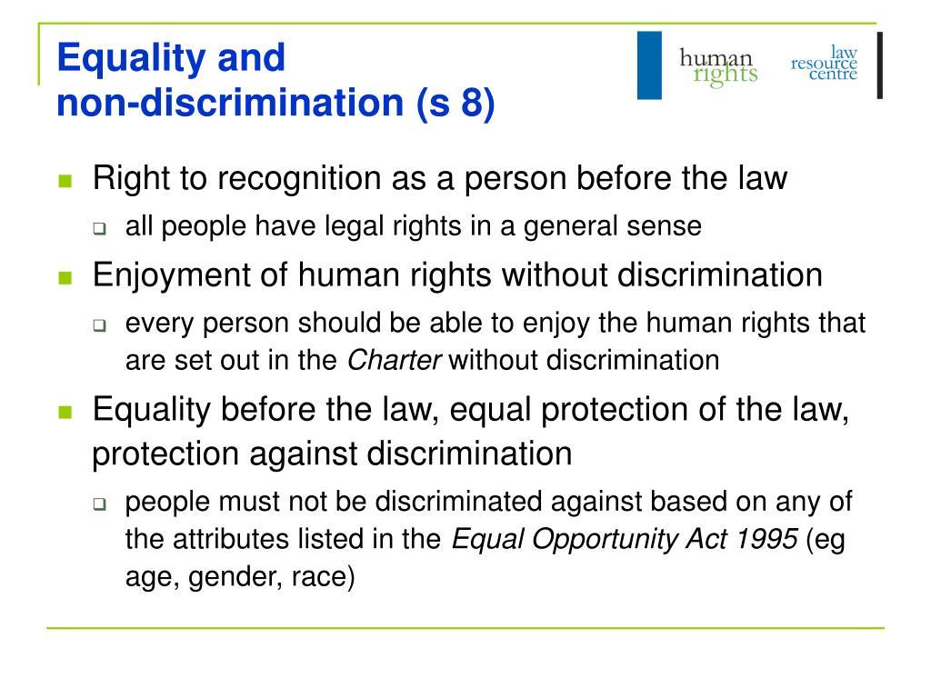 Equality and