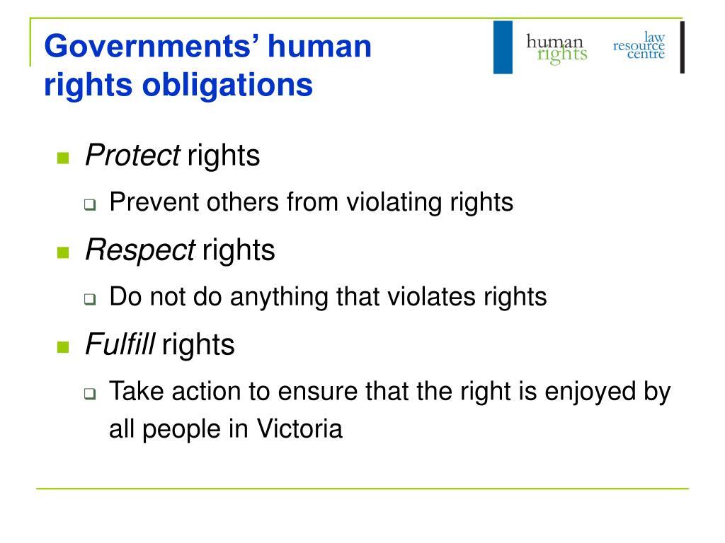 Governments' human