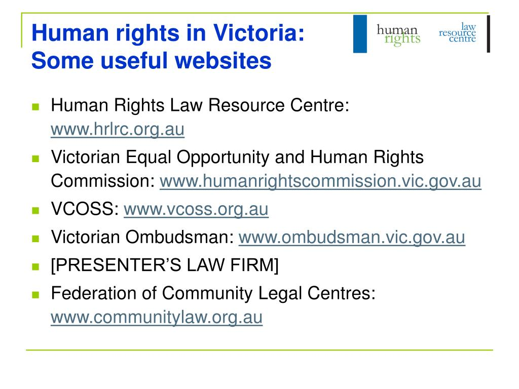 Human rights in Victoria: