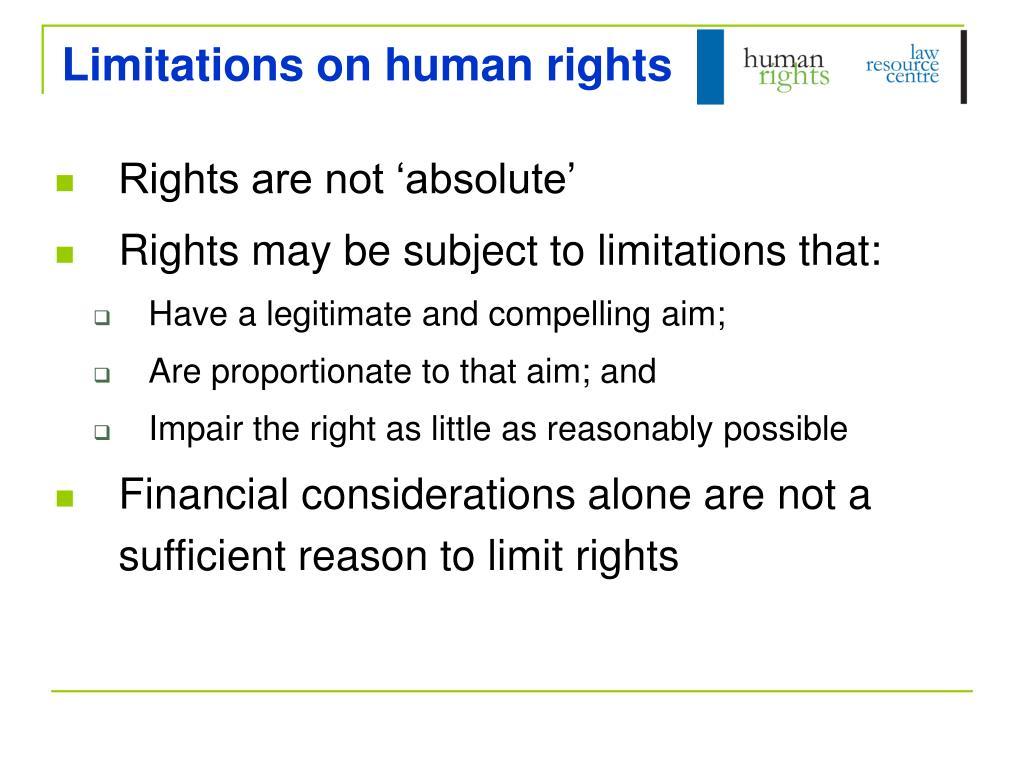 Limitations on human rights