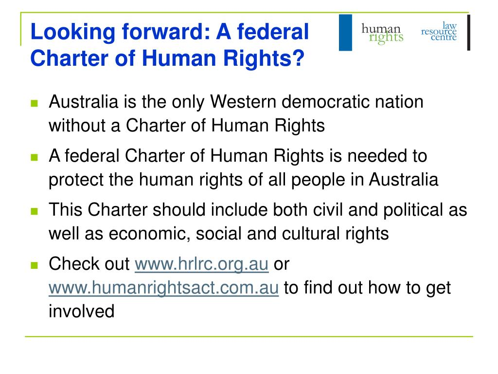 Looking forward: A federal Charter of Human Rights?