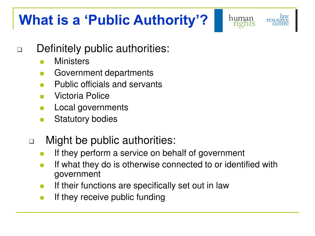 What is a 'Public Authority'?