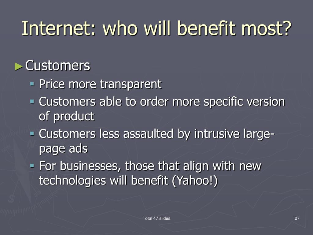Internet: who will benefit most?