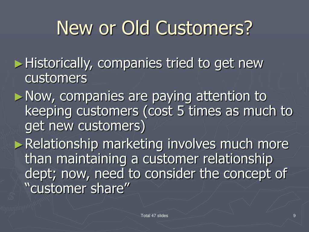 New or Old Customers?