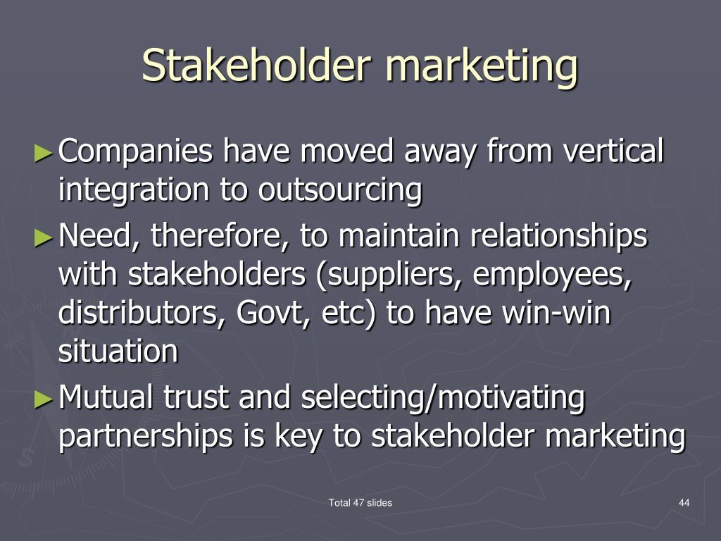 Stakeholder marketing