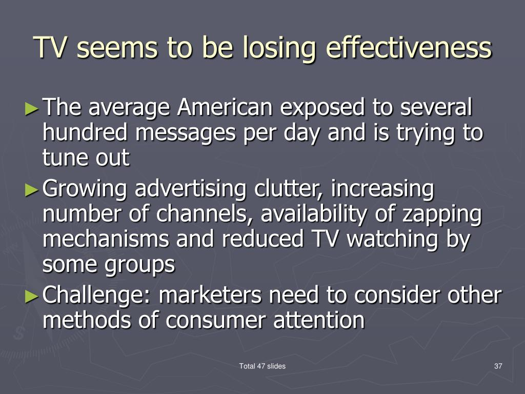 TV seems to be losing effectiveness